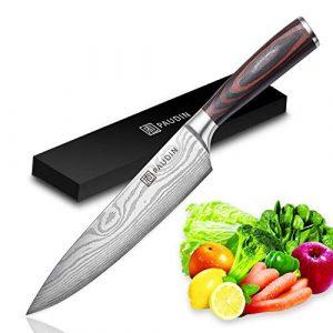 Kochmesser – PAUDIN Küchenmesser 20cm Profi Messer Chefmesser Allzweckmesser aus rostfreiem Stahl, Extra Scharfe Messerklinge mit ergonomischer Griff