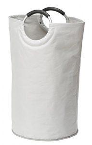 Wenko 3440001100 Wäschesammler Jumbo Stone – Multifunktionstasche , Fassungsvermögen 69 L, Polyester, 38 x 72 x 38 cm, beige