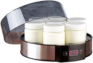 Rosenstein & Söhne Joghurtmaschine: Joghurt-Maker mit Zeitschaltuhr, 7 Portionsgläser je 190 ml, 20 Watt (Joghurtzubereiter)