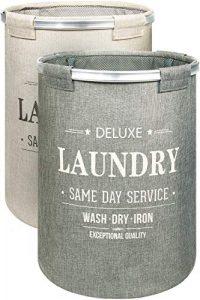 Bamodi Wäschekorb Sortierer – 2er Set Wäschesammler spart Zeit beim Sortieren – Wäschesack – Wäschekörbe – Laundry Baskets – 55 x 40 cm (2 x 60 Liter)