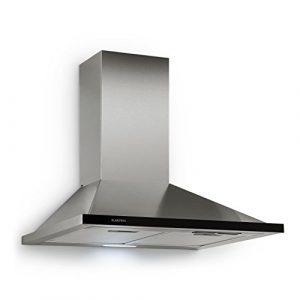 Klarstein Galina • Dunstabzugshaube • Abzugshaube • Wandabzugshaube • Abluft/Umluft • 3 Stufen • max. Abluftleistung: 350 m³/h • Acryl-Glas • Breite: 60 cm • Aluminium-Fettfilter • silber