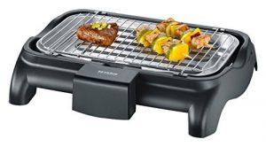 SEVERIN PG 8510 Barbecue-Grill (2.300W, Tischgrill, Grillfläche (37 x 23cm)) schwarz