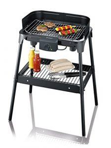 SEVERIN PG 8532 Barbecue-Grill (2.500W, Standgrill, Grillfläche (41 x 26cm)) schwarz
