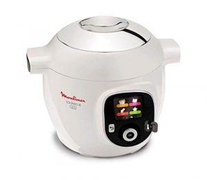 MOULINEX CE853100 Multicuiseur intelligent Cookeo avec prise usb et 150 recettes préprogrammées – Blanc