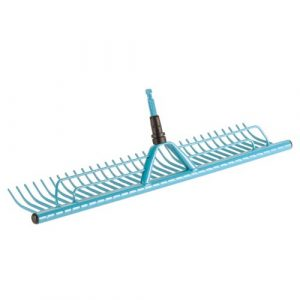 Gardena combisystem-Rasenrechen/Rechenbesen, mit 60 cm Arbeitsbreite zum Zusammenfegen von Grasschnitt, passend zu allen combisystem-Stielen, mit praktischer Grasfangvorrichtung