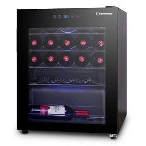 Inventor Vino Weinkühlschrank 66L für bis zu 24 Weinflaschen (bis zu 300 mm Höhe), Temperatureinstellbereich 5-18°C, digitale Temperaturregelung, LED-Innenraumbeleuchtung