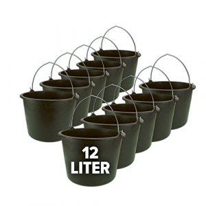 Eimer, Baueimer, Putzeimer, Mörteleimer mit Henkel 10er Set – 12 oder 20 Liter, Größe:12 Liter
