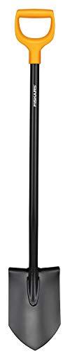 Fiskars Gärtnerspaten für harte, steinige Böden, Spitz, Länge 117 cm, Hochwertiges Stahl-Blatt/Kunststoff-Stiel, Schwarz/Orange, Solid, 1003455