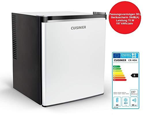Cuisinier CR35A Minikühlschrank Kühlschrank 36 L/Höhe 49 cm, MiniBar Thermoelektrisch und freistehend, Tischkühlschrank mit leisem Betrieb (max. 39dBA), regelbares Thermostat, Hotel Mini Bar, Büro