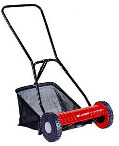 Einhell Hand-Rasenmäher GC-HM 40 (für bis zu 250 m², Mähspindel mit 5 Stahlmessern, 4-stufige Schnitthöhenverstellung 15 – 35 mm, Grasfangkorb)