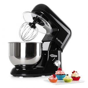 Klarstein Bella Nera Küchenmaschine Rührgerät (1200 Watt, 5,2 Liter-Rührschüssel, 6-stufige Geschwindigkeit) schwarz