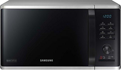 Samsung MW3500 MS23K3515AS/EG Solo Mikrowelle/48,9 cm/Kratzfester Keramik-Emaille-Inneraum/5 QuickDefrost Auftauprogramme/Silber