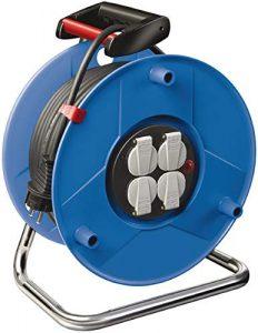 Brennenstuhl Garant Kabeltrommel (25m – Spezialkunststoff, Einsatz im Innenbereich, Made In Germany) blau