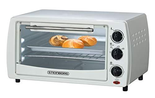 Mini Backofen 13 Liter   inkl. 2x Backblech   Pizzaofen   60°-250°C   Timer   aufklappbares Krümelblech   Minibackofen   Backofen   Kleiner Backofen   900 Watt