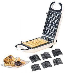 Rosenstein & Söhne Snackmaker: 6in1-Snack-Maker, auswechselbare Formen, antihaftbeschichtet, 700 Watt (Cakepop-Maker)