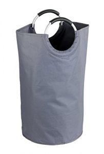 WENKO 3440803100 Wäschesammler Jumbo-/Wäschekorb, Multifunktionstasche Fassungsvermögen: 69 l, 38 x 72 x 38 cm, anthrazit