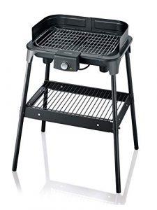 SEVERIN PG 8548 Barbecue-Grill, Standgrill (2.500Watt, Grillfläche (41x26cm)) schwarz