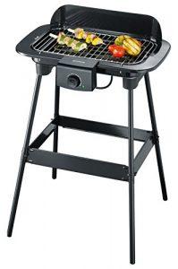 Severin PG 8542 Barbecue-Grill/Standgrill/Grillfläche (2.300W, 37 x 23cm) schwarz
