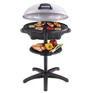 Cloer 6789 Barbecue-Grill / Thermometer / Standgrill / 2400 Watt / Grillfläche: 38,5 x 52,5 cm / platzsparend verstaubar / schwarz