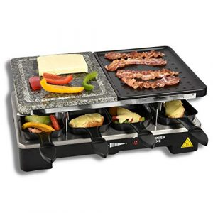 Cuisinier Deluxe Raclettegrill Steingrill Raclette Grill 8 Personen Naturstein