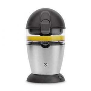 Automatische Zitruspresse   Elektrische Saftpresse mit 400 ml Behälter, Edelstahl Orangenpresse, Entsafter, Obstpresse inkl. gratis Rezept