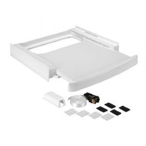Wpro SKS100 Waschmaschinenzubehör/ Zwischenbaurahmen mit Ablage / Waschmaschine und Trockner/ Universell