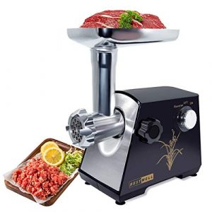 LINN Elektrischer Fleischwolf,Profi Wurstmaschine Set,Multifunktions Küchenmaschine Fleisch,Edelstahlklinge/400W