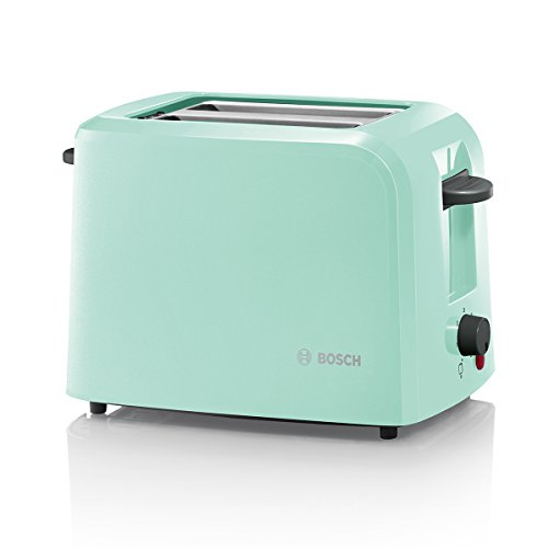Bosch TAT3A012 Kompakt-Toaster, 980 W, mint türkis/ schwarz-grau
