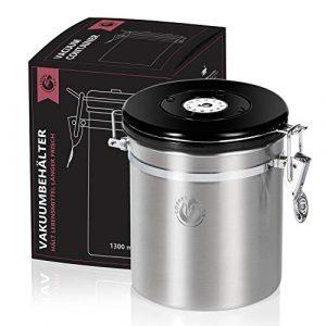 Vakuum Kaffeedose Teedose Vorratsdose – Vorratsbehälter Vakuumdose mit Aroma-Deckel Luftdicht