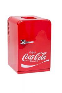 EZetil Coca-Cola Mini Kühlschrank F15, 12/230V – 15L mit Kühl- und Warmhaltefunktion für Getränke und Speisen, Energieeffizienzklasse A++, Rot