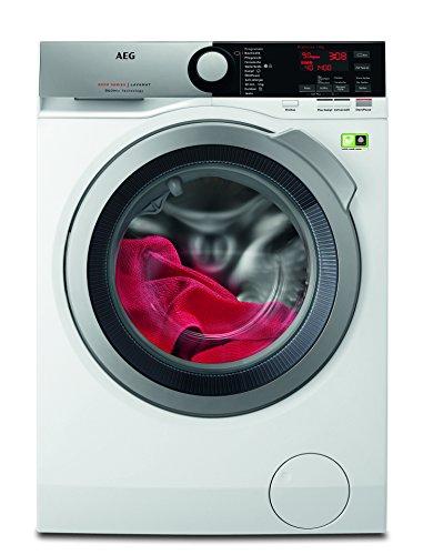 AEG L8FE76495 Waschmaschine / ProSteam - Auffrischfunktion / ÖKOMix - Faserschutz / 9,0 kg / Leise / Mengenautomatik / Nachlegefunktion / Kindersicherung / Schontrommel / Allergikerfreundlich / Wasser