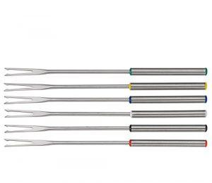 Spring 2690280606 Fondue-Gabeln Fun 6 Stück, Edelstahl, silber, 2 x 12 x 27,6 cm
