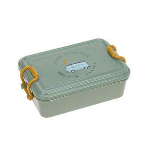 LÄSSIG Kinder Brotdose Vesperbox Lunchbox Kindergarten Snackbox spülmaschinenfest/Lunchbox Adventure Bus