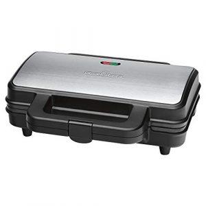 Profi Cook PC-ST 1092 Sandwichtoaster, extra große Sandwichplatten für amerikanische XXL-Toastscheiben, Edelstahleinlage, Antihaftbeschichtung, 2 Kontrolleuchten