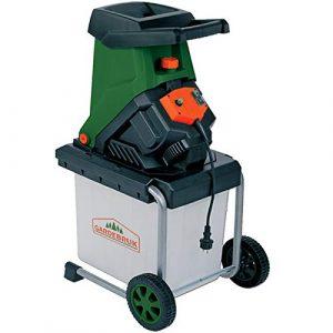 Monzana Messerhäcksler 2500W elektrisch max. 40 mm Aststärke 50L Auffangbox Gartenhäcksler Häcksler Schredder