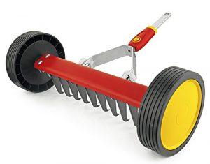 WOLF-Garten – Vertikutier-Roller multi-star® UR-M 3″NEU2018, Rot, 30x60x16 cm; 71AAA036650
