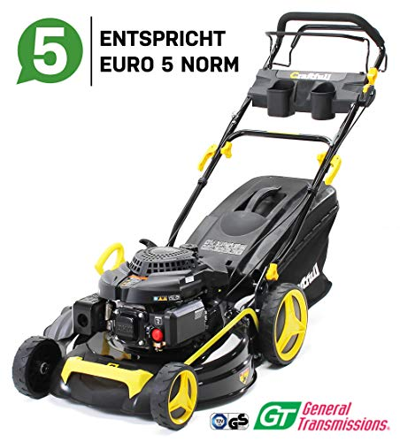 Craftfull Premium Benzin Rasenmäher 5in1 - Euro 5-4,4 Kw 6 Ps - 196 ccm 4-Takt Motor - GT Markengetriebe - 53 cm Schnittbreite - Selbstantrieb - Easy Clean (CR-196-10 4,4 KW 6 Ps 196cc Motor)