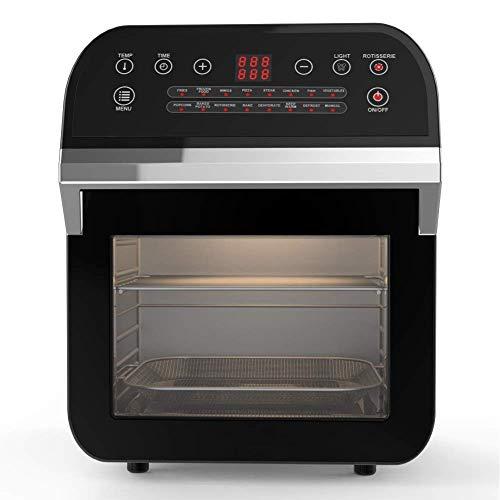 Cuisinier AF520 Digitale Multifunktionale Heißluftfritteuse Airfryer Multikocher 12L, Heißluft Fritteuse, Friteuse, Fritöse, 1600W, Grillspieß Mini Backofen, Ofen mit 16 Programmen,Version 2019