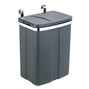 Wenko Tür-Abfalleimer – Schrank-Abfalleimer, Küchen-Mülleimer Fassungsvermögen: 12 l, 26 x 34 x 17 cm, grau