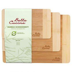 Bella Cucina Premium Schneidebrett Set   Bambus-Holz Küchenbrett   Schnittfest