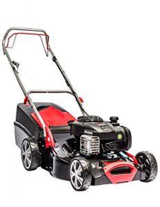 AL-KO Benzin-Rasenmäher Classic 4.65 SP-B, 46 cm Schnittbreite, 1.8 kW Motorleistung, für Rasenflächen bis 1.400 m², Schnitthöhe 7-fach zentral verstellbar, mit Radantrieb