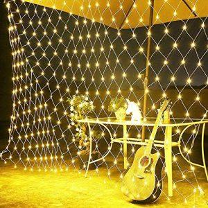 Love99 3 x 2 m, innen und außen mit warmweißen LED-Lichtern für Weihnachten, Festen oder Valentinstag, DGS