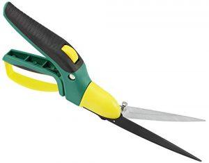 com-four® Rasenkantenschere, Handgrasschere mit 360° drehbaren Klingenkopf, Länge: 34 cm (001 Stück Rasenschere)