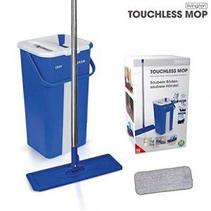 Mediashop Livington Touchless Mop Selbstreinigungssystem Mopp ✓ inkl. Eimer 2,7 Liter ✓ Reinigung für alle Arten von Böden ✓ Fliesen ✓ Parkett ✓ Linoleum ✓ Laminat | Das Original aus dem TV