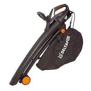DELTAFOX Elektro Laubbläser Laubsauger – 3000 W – inkl. 40ltr Fangsack – Tragegurt – Blasgeschwindigkeit bis 270 km/h – hohe Saugleistung – leaf blower – garden vacuum