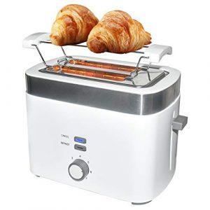 ABC Lifestyle Toaster, Zwei Extra Breiten Toastschlitzen, Brötchenaufsatz Weißbrot Toaster mit Bagel, Auftau- Funktion, Einschließlich Abnehmbarer Krümelschublade, BPA-Frei