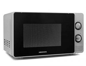MEDION Mikrowelle, 20 Liter, 700 Watt, Grillleistung ca. 800W, 5 Leistungsstufen, Timer, Auftaufunktion, MD18691, schwarz