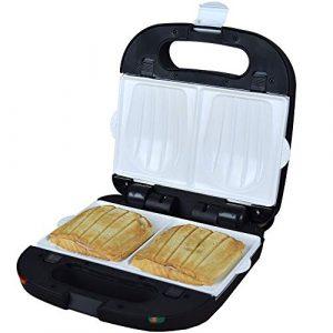 Syntrox Germany Sandwichmaker Sandwichtoaster Muschelform mit keramisch beschichteten Backplatten SM-1500W