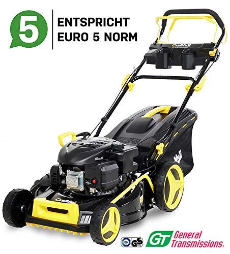 Craftfull Premium Benzin Rasenmäher 5in1 - Euro 5-5,2 Kw 7 Ps - 224ccm 4-Takt Motor - GT Markengetriebe - 56 cm Schnittbreite - Selbstantrieb - Easy Clean (CR-224-20 5,2 KW 7 Ps 224cc Motor)