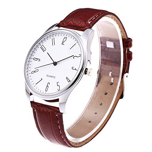 kashyk Herrenuhr,Quartz Analog klassischen Uhrendesign Premium Lederarmband Verstellbares mit Edelstahlgehäuse Armband in 4 Farben Business Modisch Uhr